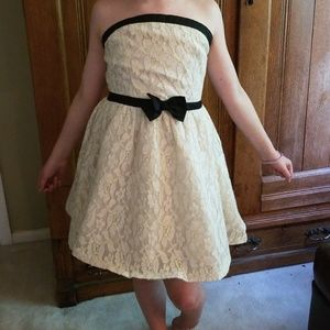 A black and white mini boden dress